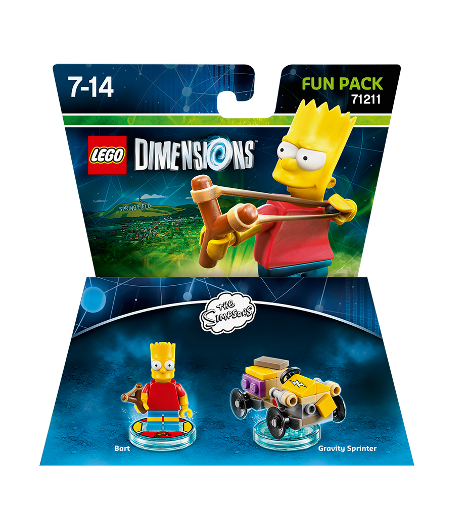 lego dimensions the simpsons bart fun pack ps3 ps4 xbox. Black Bedroom Furniture Sets. Home Design Ideas